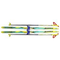 Лыжный комплект STC NN75 120-140 см  Лыжи для школьника , лыжный комплект для школы