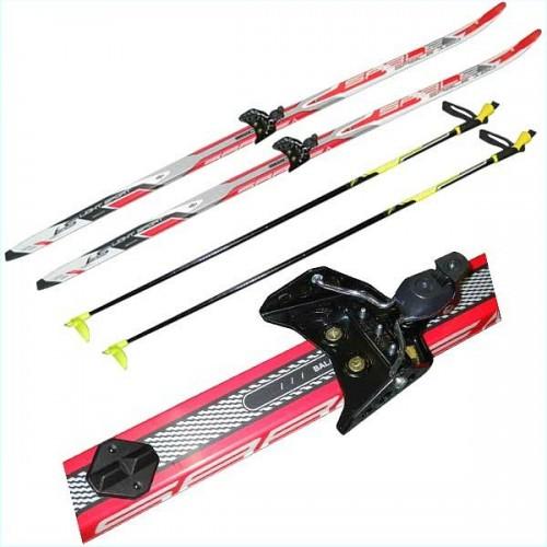 Лыжный комплект STC NN75 150-170 см Лыжи для школьника , лыжный комплект для школы
